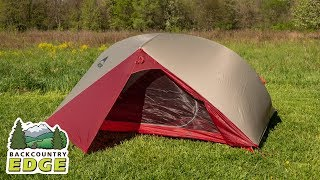 Msr Carbon Reflex 3 3 Season Backpacking Tent Youtube