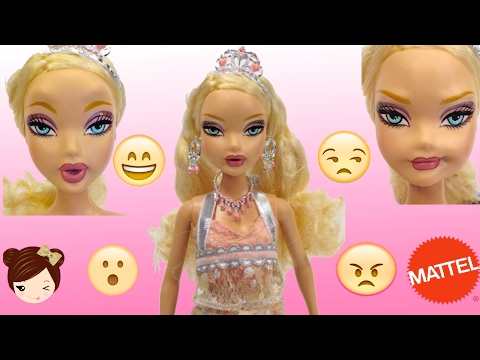 Funniest Barbie  Doll Ever? Face Changing Doll - Smiles, Laughs, sad