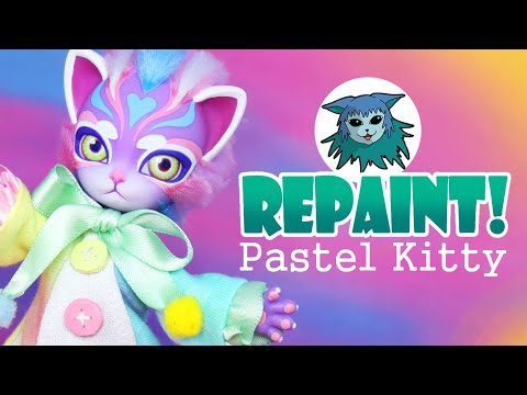 Repaint! Pastel Kitty collaboration with Doll Motion