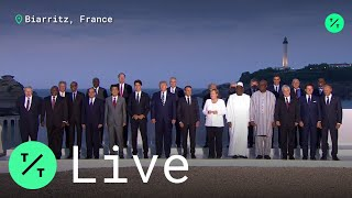 World Leaders Gather for the G7 Family Photo