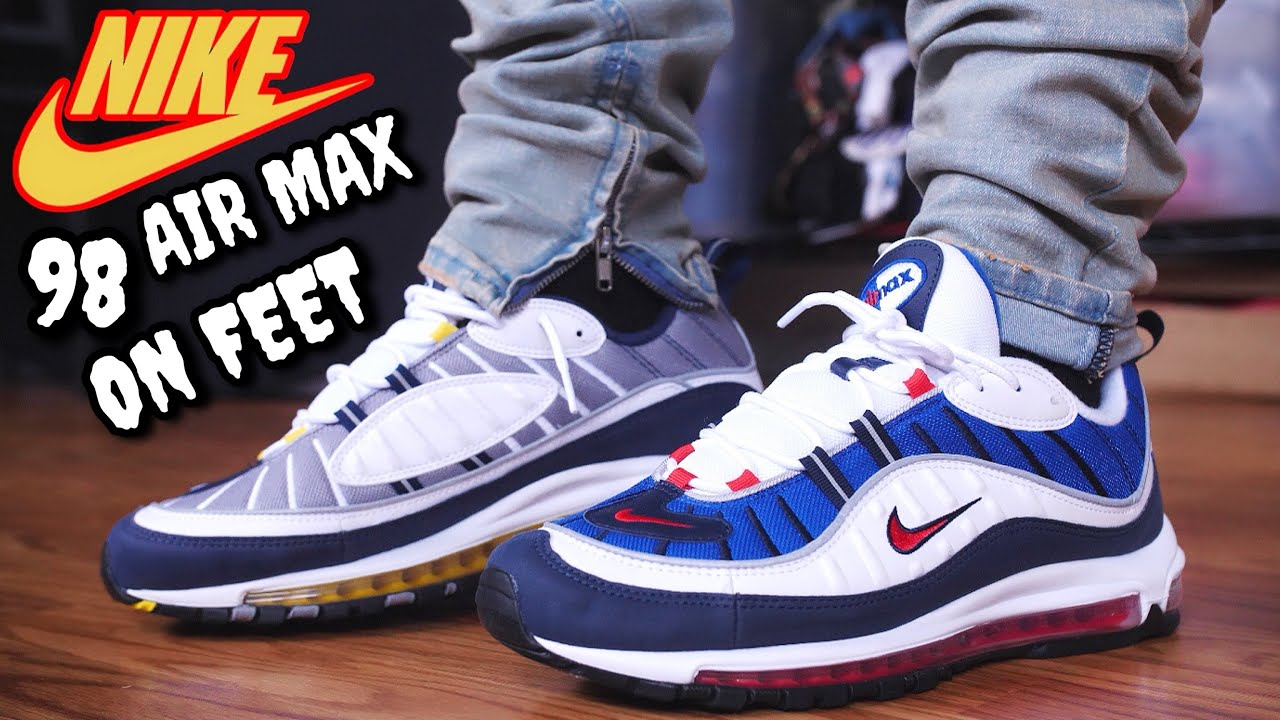 THESE SOLD OUT QUICK! GUNDAM \u0026 TOUR YELLOW AIR MAX 98 ON FEET REVIEW!