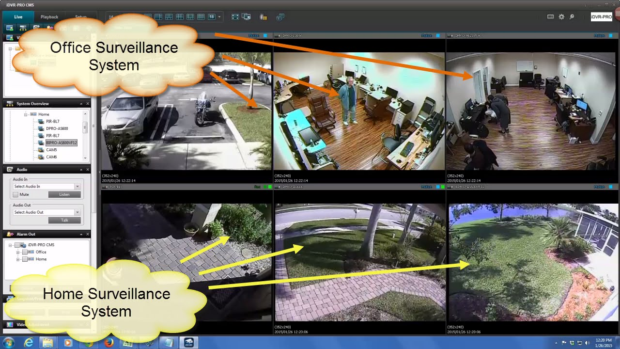 View Cctv Security Cameras At Multiple Dvr Locations With
