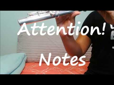 Attention by Charlie Puth tutorial/ notes (flute)