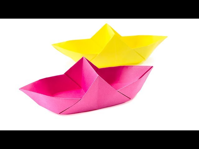 Origami Boat Basket Tutorial - Double Sectioned Box - Paper Kawaii
