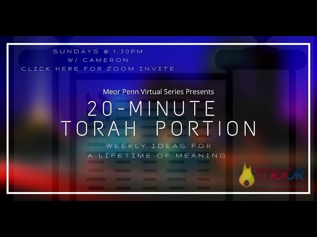 Parshas Acharei Mos - 20 Minute Torah Portion