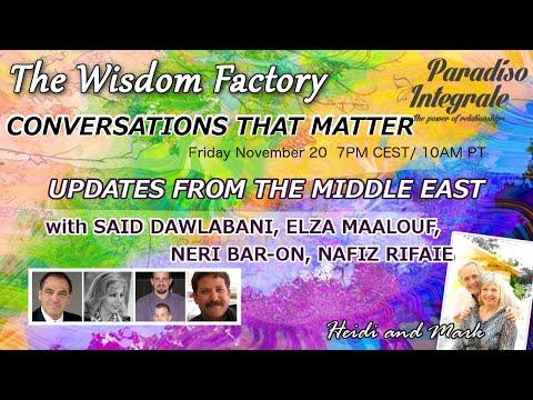 Updates from the Middle East - E.Maalouf, S.Dawlabani, Neri Bar-on, Nafiz Rifaie (by Heidi Hornlein)
