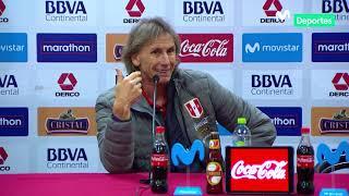 Ricardo Gareca: conferencia de prensa del DT de Perú tras la derrota ante Colombia