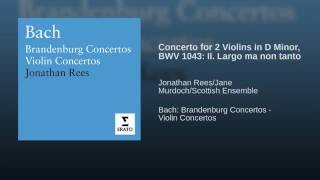 Double Violin Concerto in D minor BWV1043: II. Largo ma non tanto