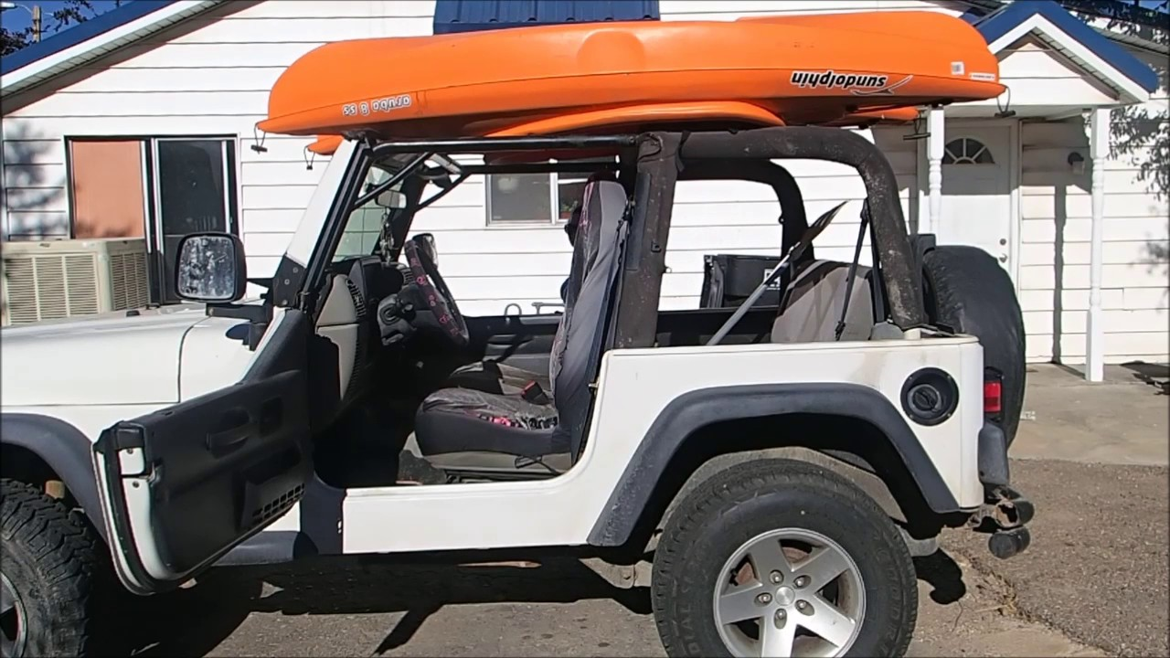 How To Tie Down A Kayak On A Jeep Youtube