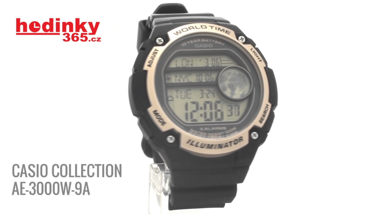 Casio Collection AE-3000W-9A - YouTube 79016f05f15