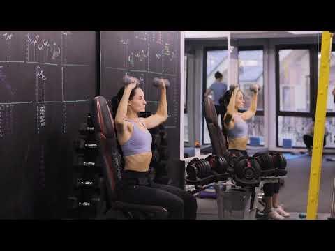 Упражнения с гантелями   Жим гантелей сидя