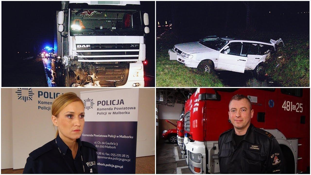 Pijany wpadł wprost pod samochód. Weekendowy raport malborskich służb mundurowych – 13.11.2017