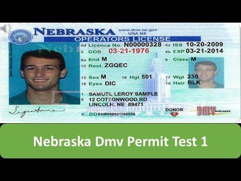 Nebraska DMV Permit Test 1
