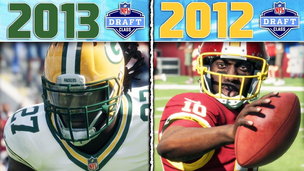 2013 NFL DRAFT CLASS vs 2012 NFL DRAFT CLASS | Madden 18 NFL Draft Class Game 3