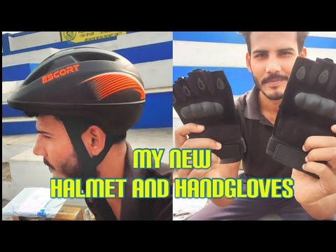 Unboxing of my new halmet, handgloves and others accessories of my new MTB
