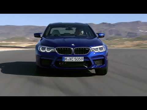 New 2018 BMW M5 on the race track