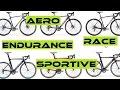 Road Bike Types Explained - Endurance,  Race, Aero, TT, Sportive, Entry Level. Buyers Guide.