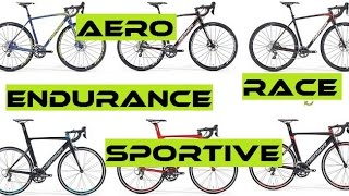 Road Bike Types Explained - Endurance,  Race, Aero, TT, Sportive, Entry Level. Buyers Guide.