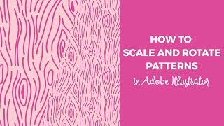 How to scale and rotate patterns in Illustrator