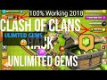 Clash of Clans Hack 2018 Get Unlimited gems 2018  (No Survey) IOS And Android  100% Working