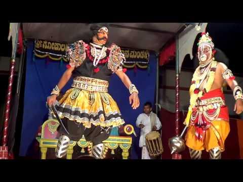 Yakshagana -- Makaraksha kalaga - 5 - Shivarama Jogi B.C.Road as Hanumantha