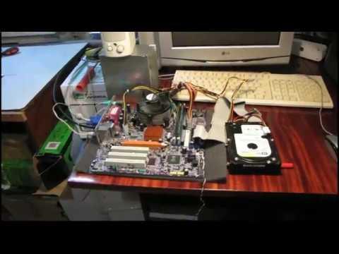 ПРОДАНО Материнская плата Elitegroup 661FX-M7 Socket 775, процессор Celeron D326, система охлаждения