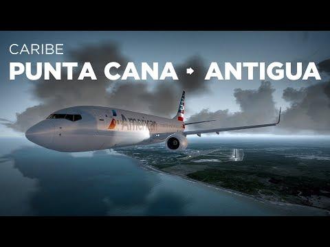 Prepar3D - B737-800 / Punta Cana → Antigua