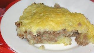 Картофельная запеканка с фаршем в духовке. Картофельная запеканка с мясом и сыром