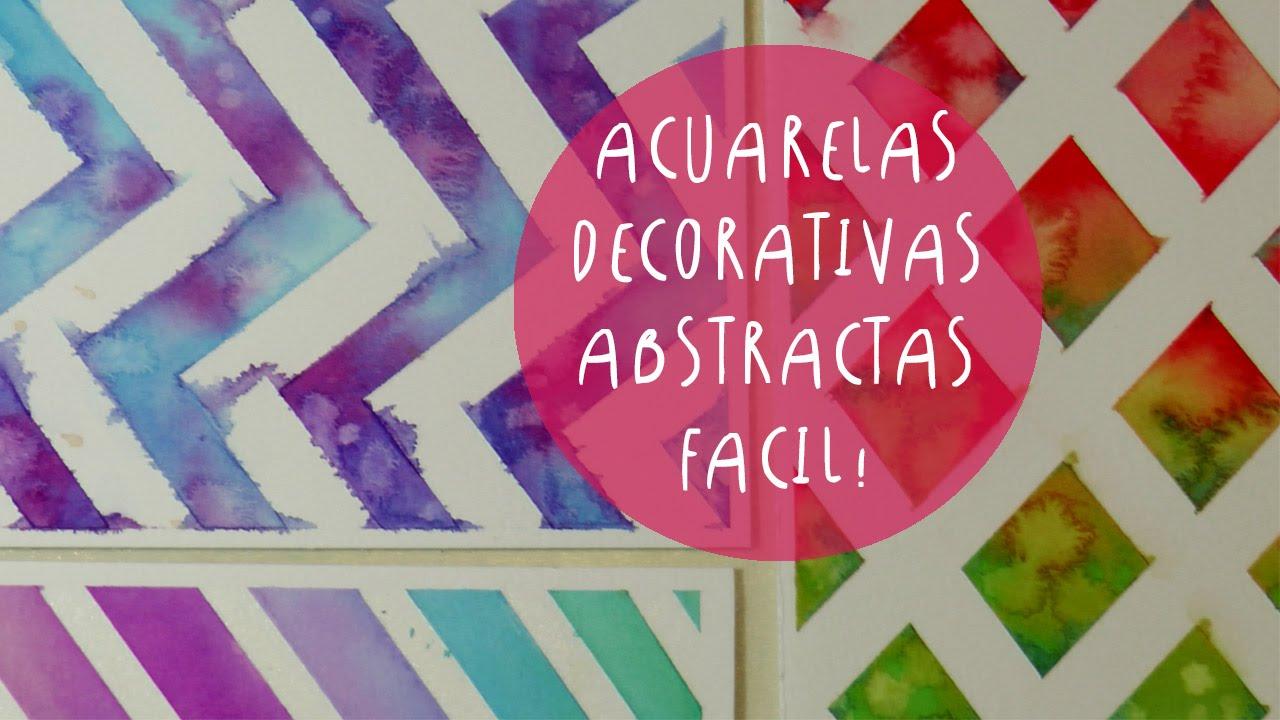 Acuarelas Decorativas Con Cinta De Papel Cinta De