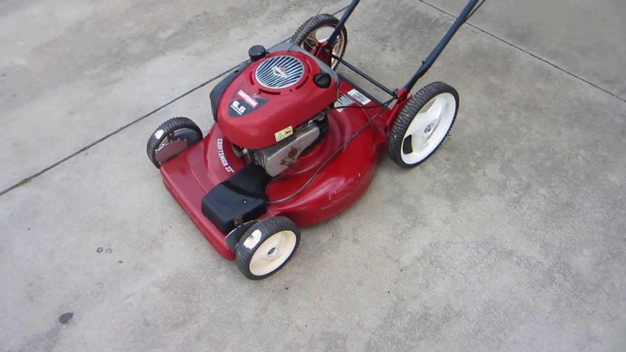 Craftsman 22 Inch Self Propelled Mower Youtube