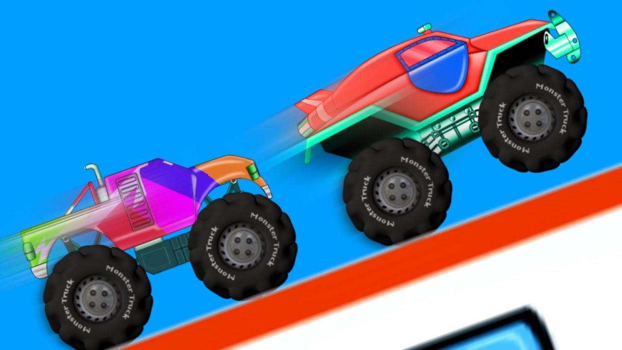 Monster Truck Monster Trucks Racing Car Race Youtube