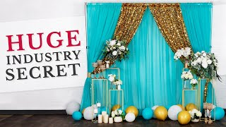 The BEST Full Fabric DIY Backdrop Tutorial