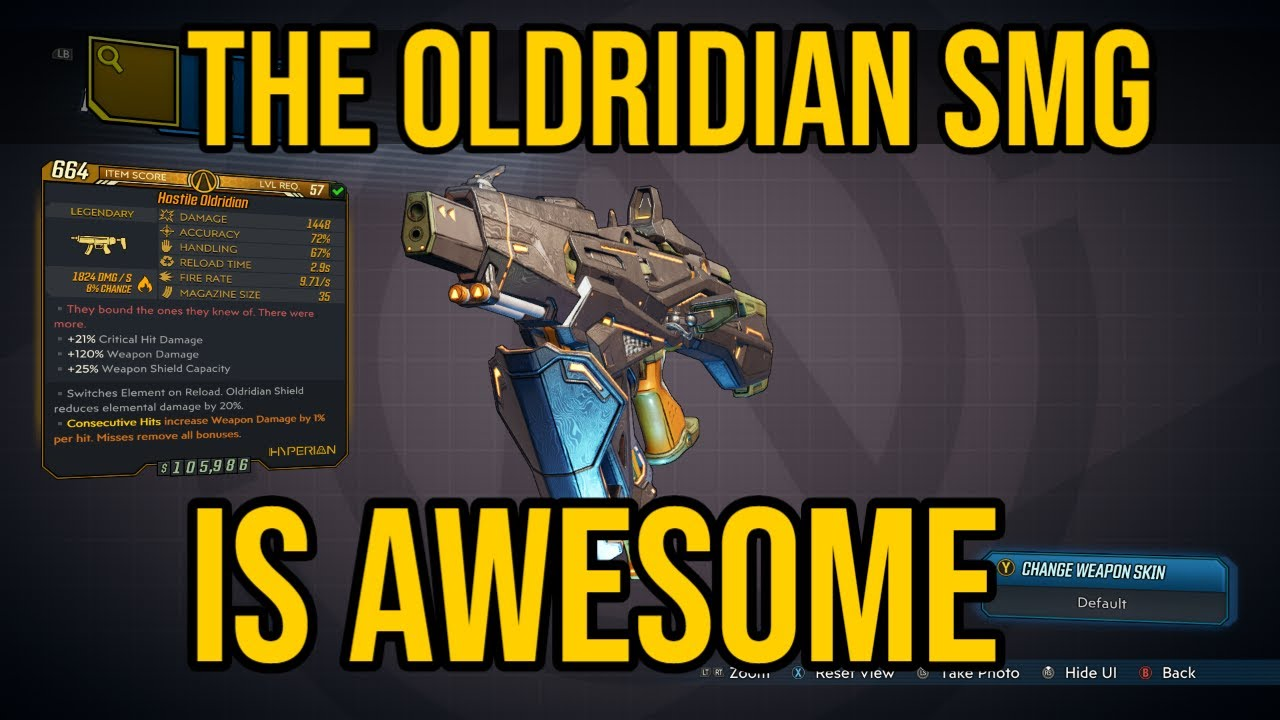 OLDRIDIAN SMG IS STRONG! Hidden Elemental Interactions! // Legendary Weapon Review // Borderlands 3 thumbnail