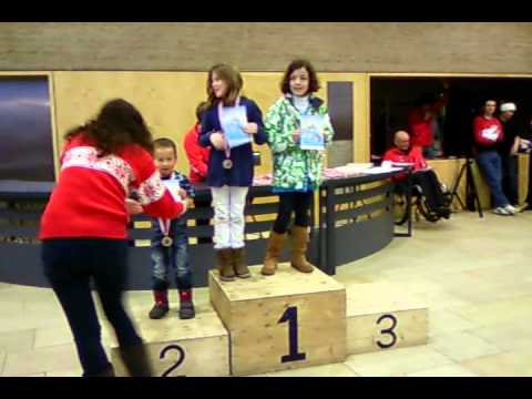 Timmy receiving 3rd prize in ski race