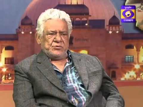 Om Puri on DD interview conduct by Sr. journalist Sanjay Gaur and journalist Anshu Harsh.....