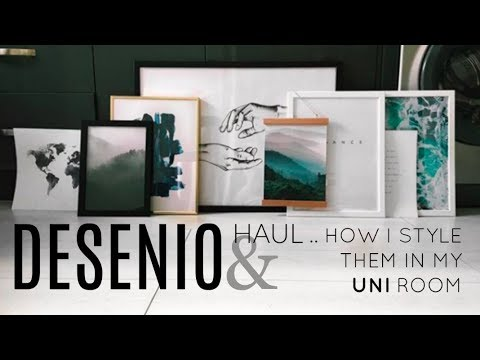 desenio haul discount how i style prints in my uni room phoebe slee youtube. Black Bedroom Furniture Sets. Home Design Ideas