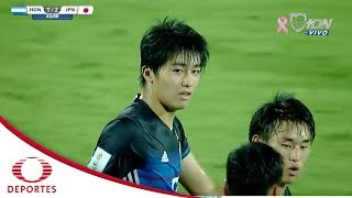 Gol de Nakamura | Honduras 1 - 3 Japón | Mundial Sub 17 India 2017 - Televisa Deportes