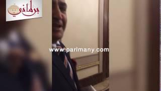 بالفيديو والصور.. إلهامى عجينة يصل مقر البرلمان لحضور الجلسة العامة