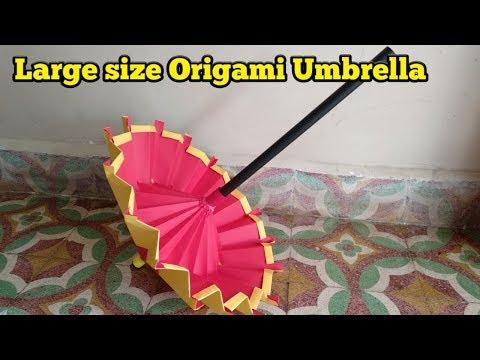 Large size Origami Umbrella || paper umbrella for kids