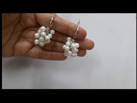 Learn how to make pearl earrings