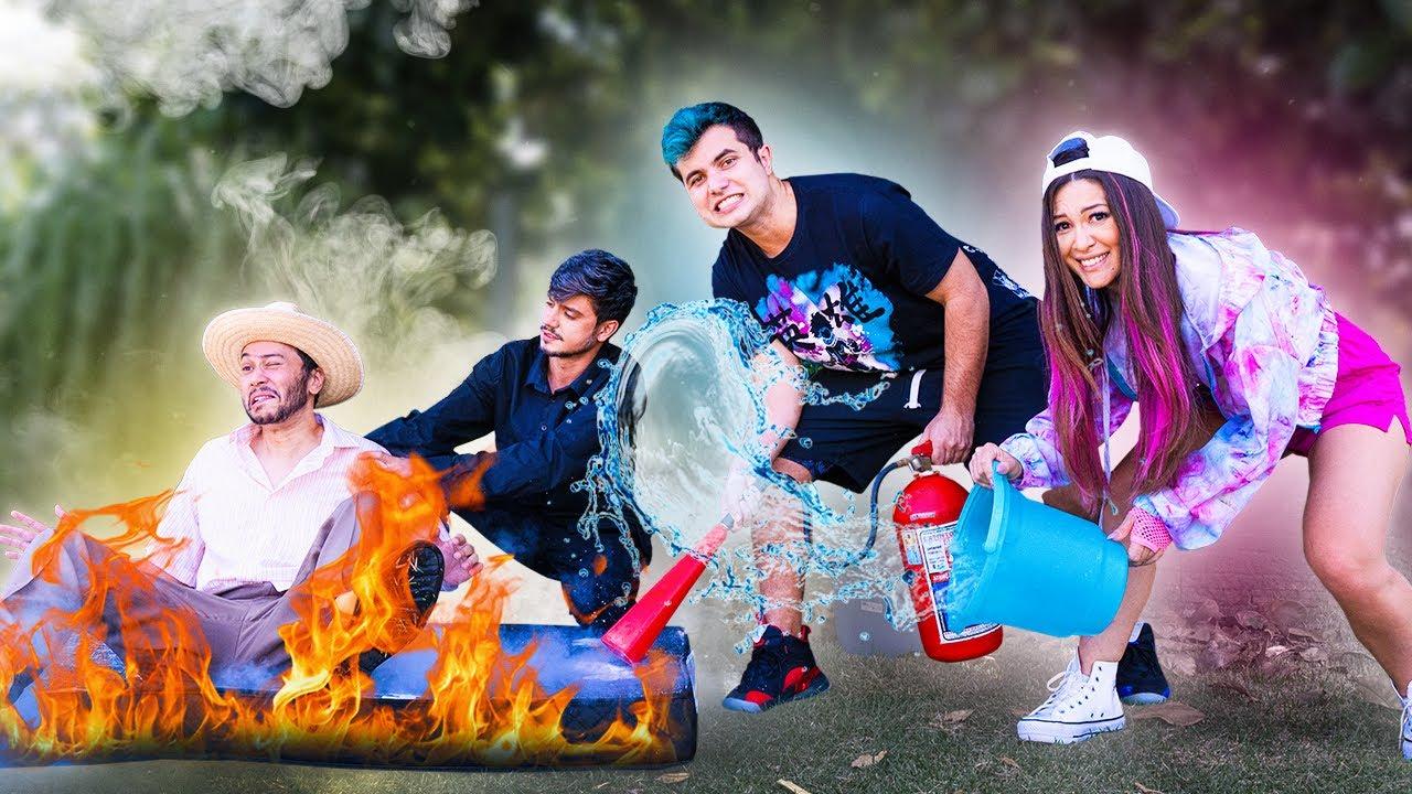 TIO ZETO COLOCOU FOGO NO COLCHÃO !! Família Malouca EP 30 ( WebSérie Maloucos )