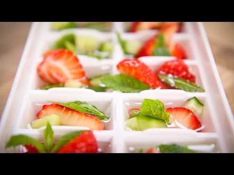 Sweet Eve Strawberry and Mint Ice Cubes Recipe