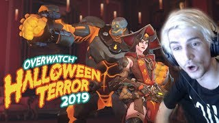 xQc Opens and Reviews NEW Overwatch Halloween Terror 2019 Skins!