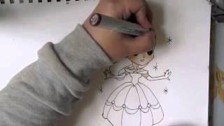 [I draw] Chibi Belle -Disney [princesses]