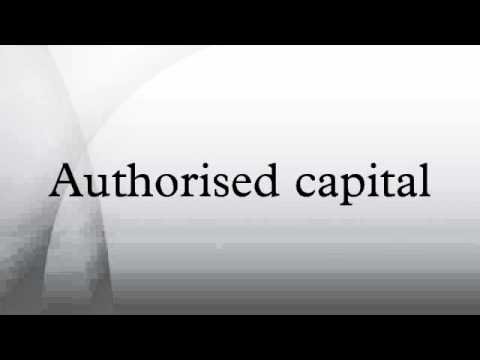 Authorised capital