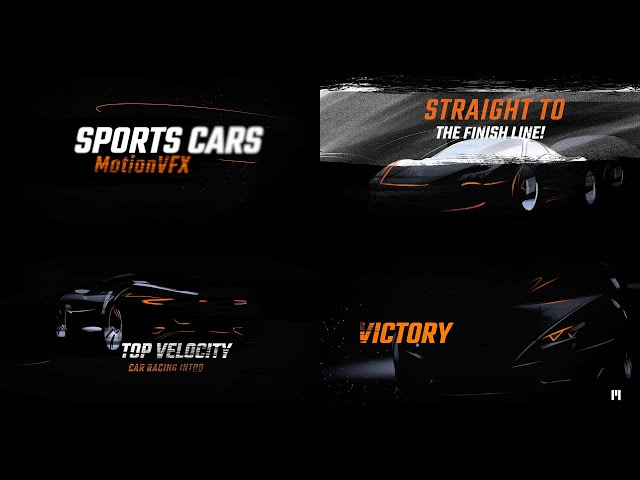 Car Racing Modular Template for Apple Motion & FCPX - MotionVFX