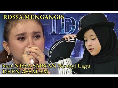 Nissa Sabyan Nyamar Ikut Indonesian Idol, Rossa Menangis