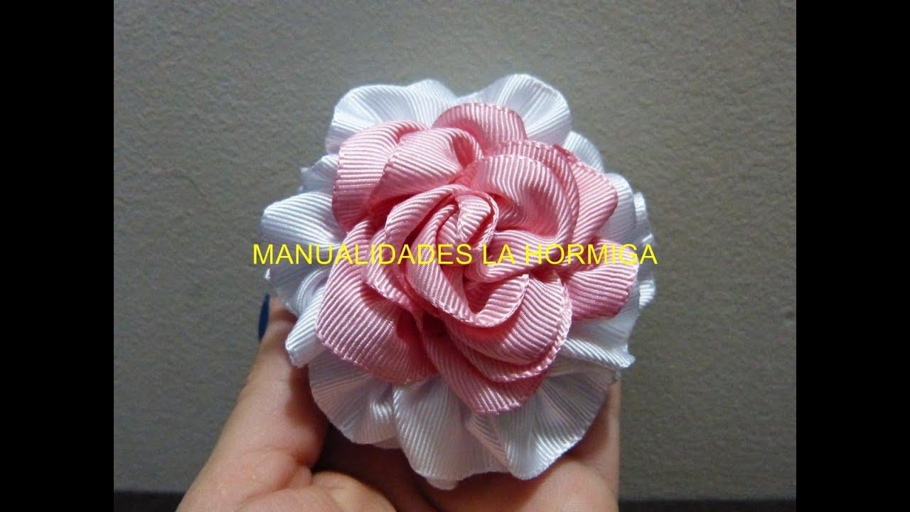 Como hacer rosas de list n how to make flower diy youtube for Manualidades con tela paso a paso