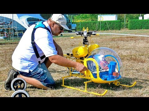 FASCINATING RC VARIO BELL-47G ELECTRIC SCALE MODEL HELICOPTER FLIGHT DEMONSTRATION