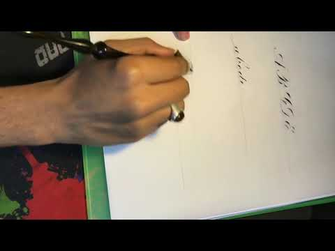 Indian penmanship presents Copperplate workshop.